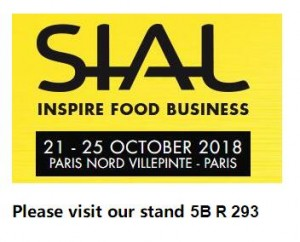 Meeting in SIAL Paris exhibition Booth No. 5B R 293